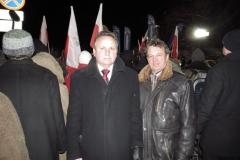 warszawa 13 grudnia 2012 roku -marsz podczas rocznicy wprowadzenia stanu wojennego