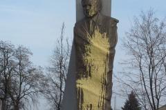 2015-02-19 Memoriał Smoleński znowu oblany farbą!