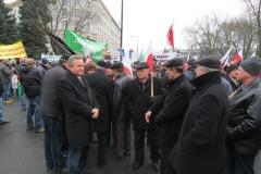 2015-02-19 Rolnicy protestują przed Sejmem